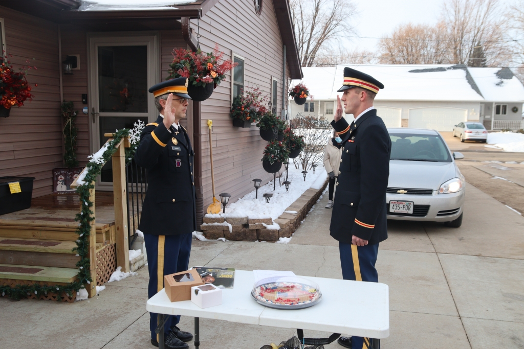 Dylan Schulz was commissioned as a second lieutenant in the United States Army National Guard in his parents' driveway.All commissioning...