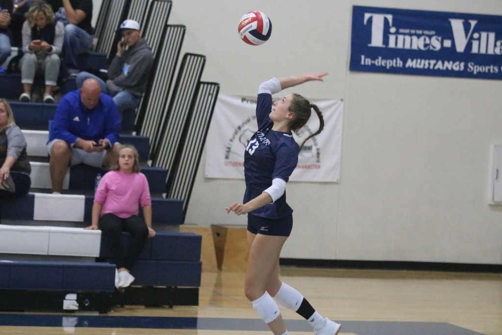The Little Chute volleyball team held on late to grab a 3-2 win over Wrightstown at home Thursday night, picking up its first conference win of...