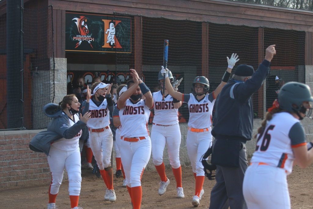 After a season-opening double header at Escanaba was cancelled, the Kaukauna softball team finally got on the diamond to officially start the year...