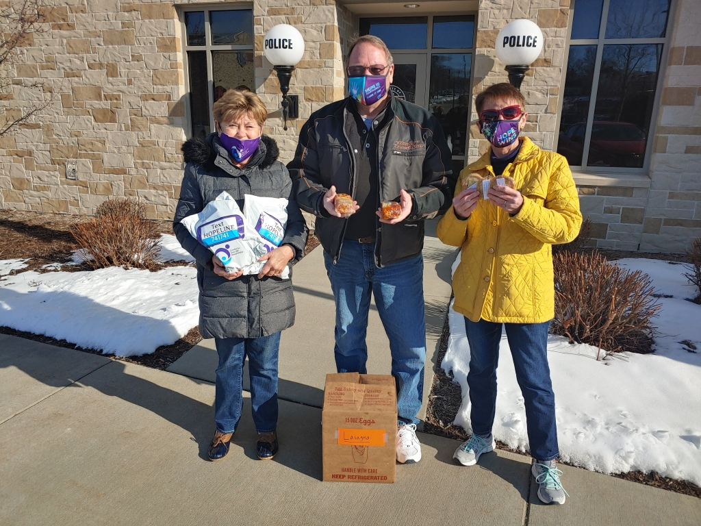Volunteers from the Center for Suicide Awareness in Kaukauna had the opportunity to support our frontline police by visiting and delivering...
